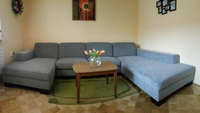 """Pohodlná sedacia súprava v tvare """"U"""" plus funkcia rozkladu na posteľ. Rozmer: 150x350x220cm v poťahovom materiály DIVINE(crevin 5ročná záruka)"""
