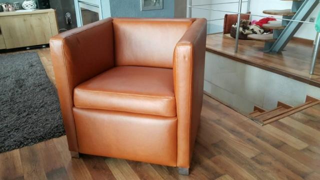 Moderné riešenie sedenia Caffe kreslo v exkluzívnej koži Bonanza