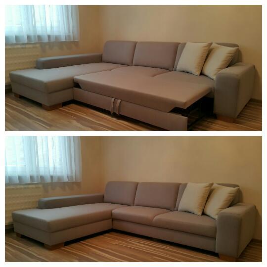 Sedacia súprava Lemans s rozkladom na 2-posteľ, vyrobená v poťahovom materiály NANCY